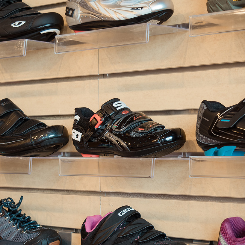 cycling shoes - Biking shoes help you put more power to your pedals and add increased stability for maneuvering around obstacles. We stock men's and women's Giro cycling and mountain biking shoes in a variety of sizes and styles.