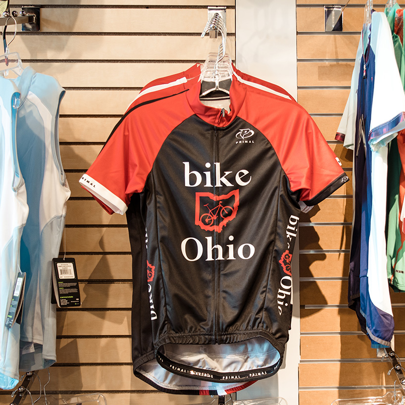 Jerseys & apparel - Ready to look and feel your best on the trail? We stock many of the performance apparel brands you know and love including Giro, Pearl Izumi, Swiftwick, and Castelli. We also carry custom branded Bike Ohio kits so you can rep your home state and your favorite shop wherever you go.