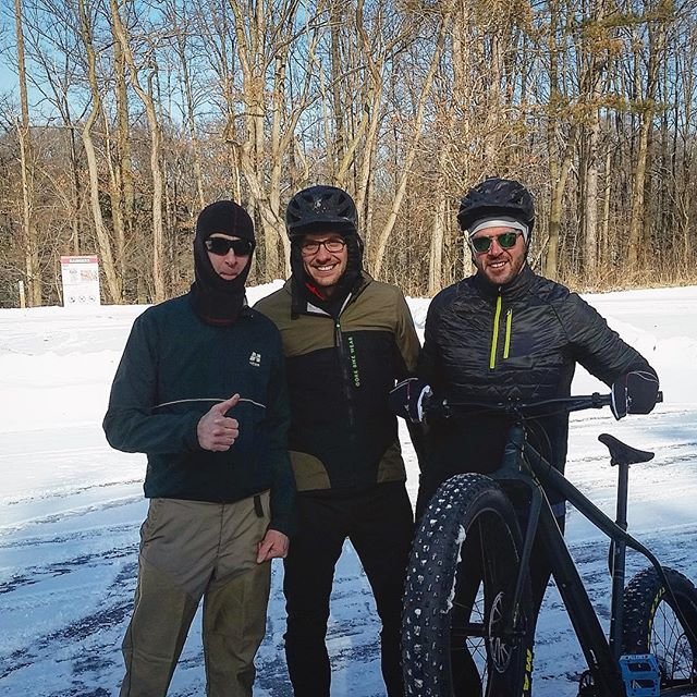Chad and Doug played a lil' hooky today to enjoy some winter fun at Bedford! . #mtb #rideyearround #fatcaad #clevelandmetroparks