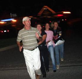 Paul & Lori leading the Human Train
