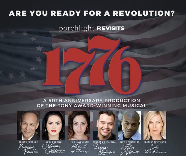 """1776 - Finishing out the fall, Lucy was last seen as Martha Jefferson in Porchlight Music Theatre's 1776 as part of the company's """"Revisits"""" season!"""