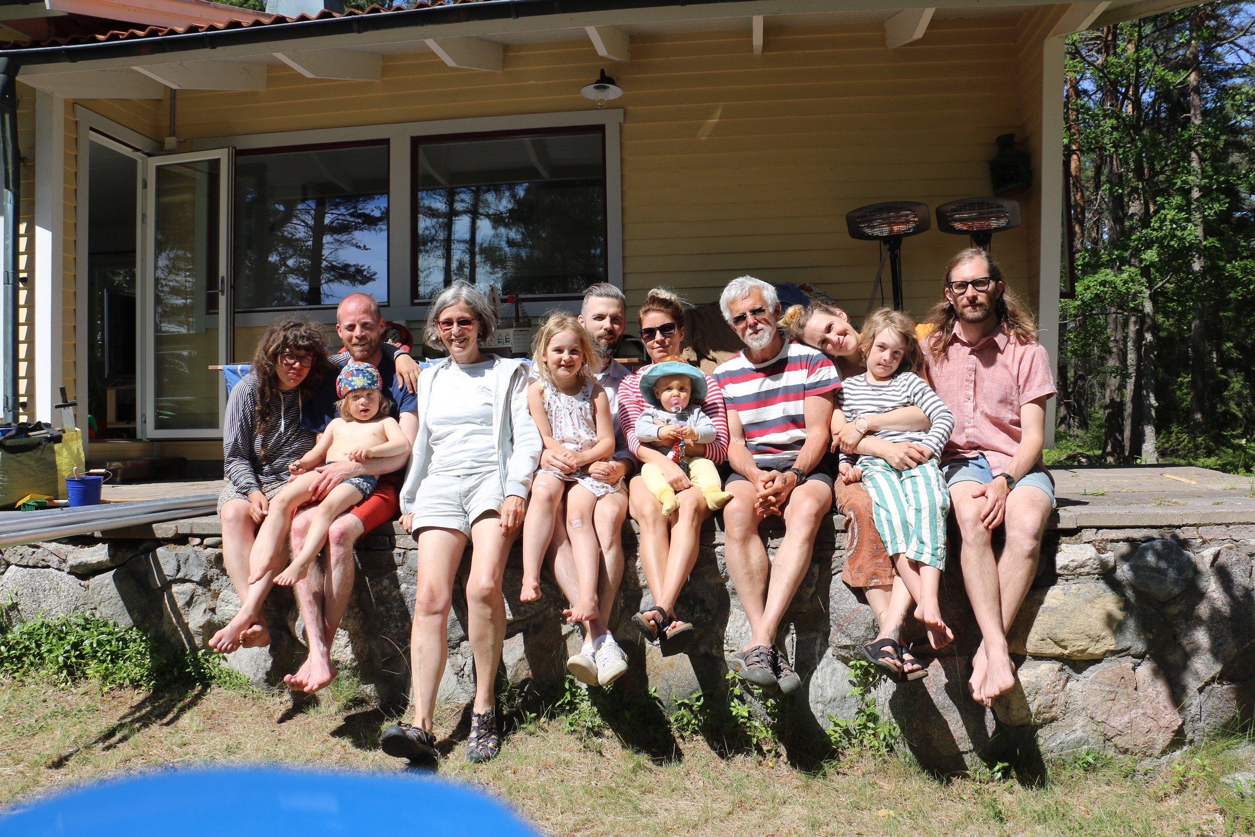 Familjen Levin på Fåglarö 1:21 i juni 2019