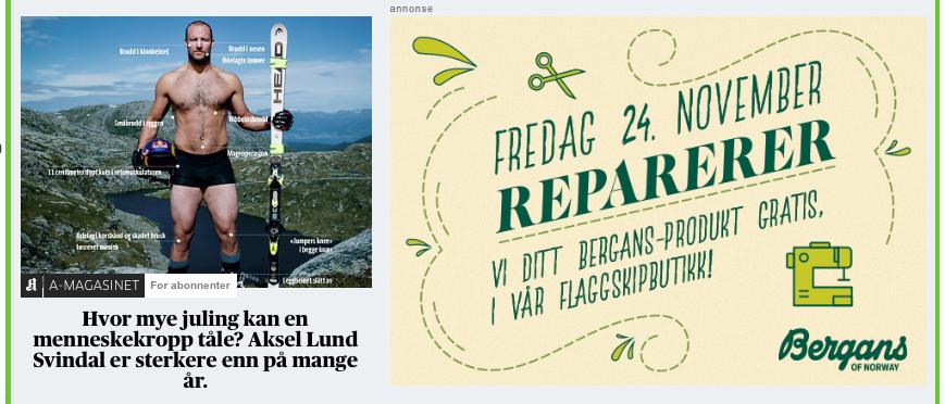 Grønn fredag Bergans ann Aftenposten.png