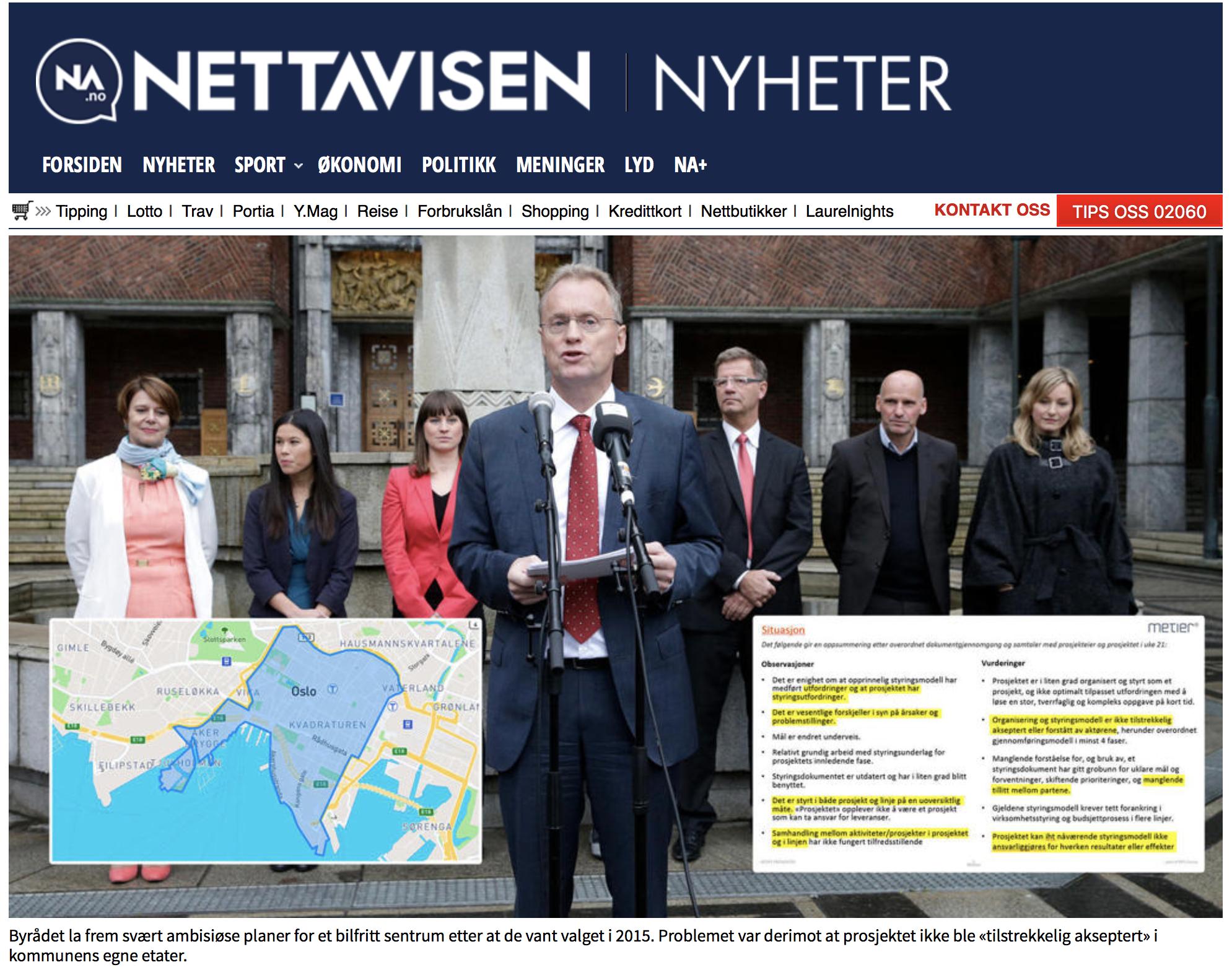 Faksimile fra Nettavisens artikkel 1. februar 2018.