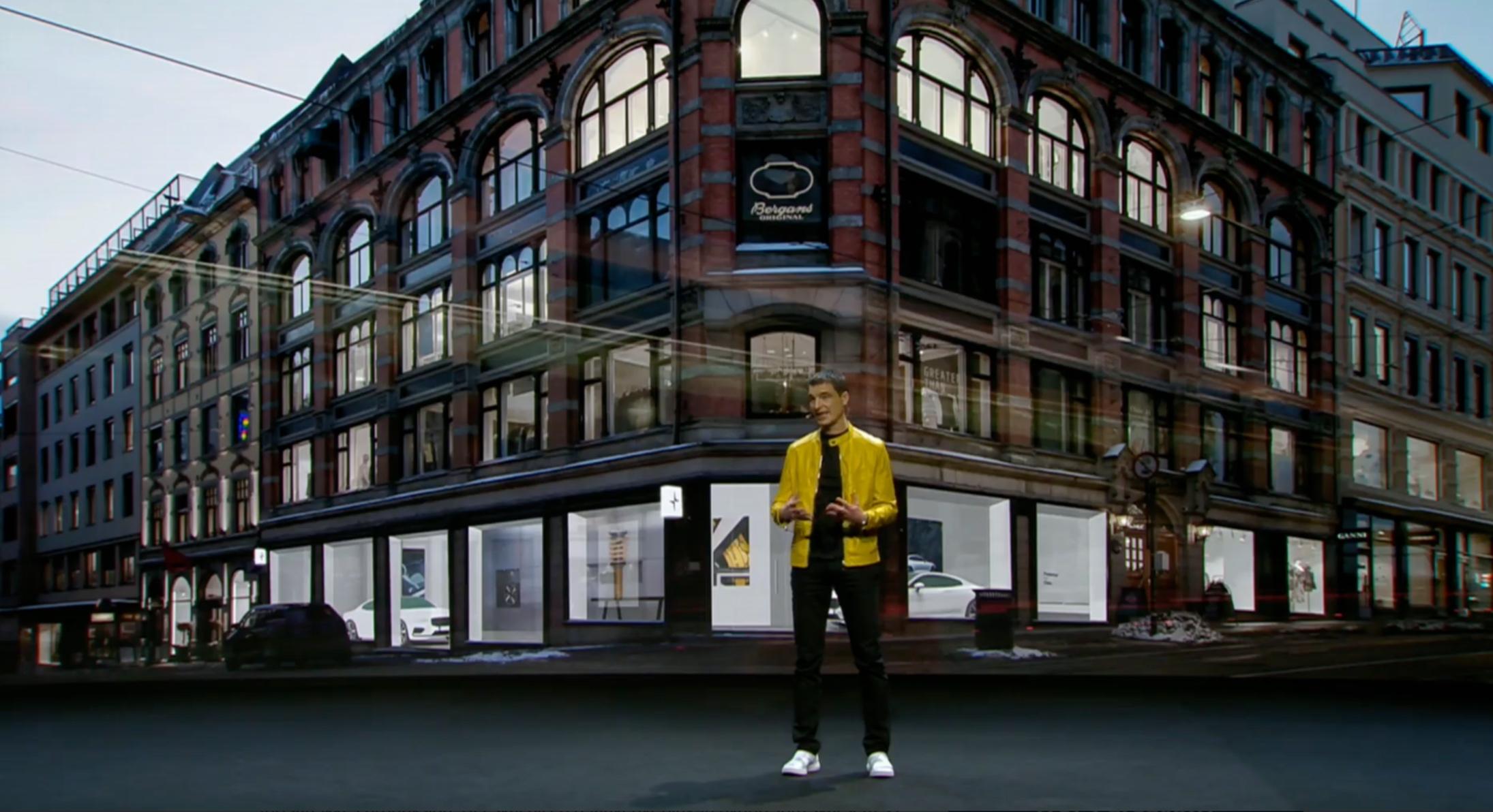 Denne uken presenteres Polestar 2 for første gang, på bilmessen i Geneve. Samtidig forteller de at den første Polestar-butikken i verden skal åpne midt i Oslo sentrum, i Øvre Slottsgate . Foto: Skjermdump.