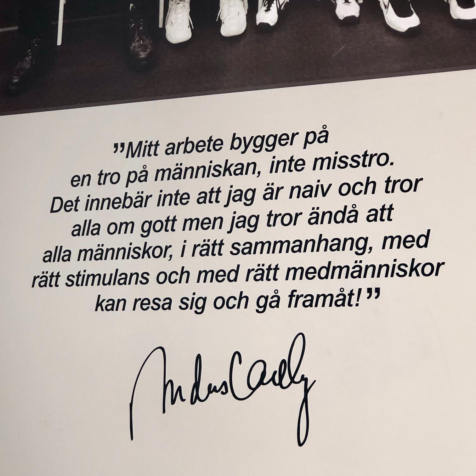 Anders Carlberg grunnla Fryshuset, og hans legat er tydelig å se flere steder.