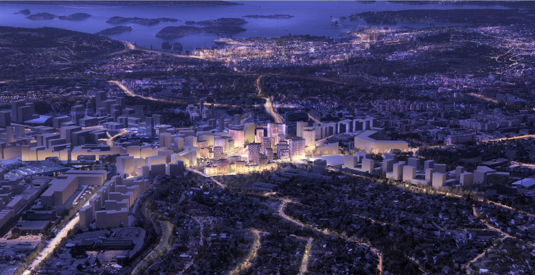 Bilde av nye Økern Sentrum,  fra hjemmesiden for prosjektet