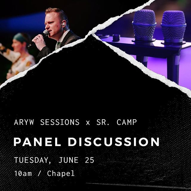 Hey #aryouth - our first session at #arcamps19 will be a Panel Discussion. Please DM us or comment below with any questions you might like answered! ✖️ Tuesday / 10am / Chapel ✖️ #aryw #arywsessions
