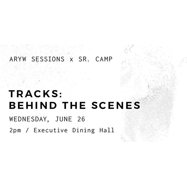 Our next ARYW Session is coming up soon! Go behind the scenes with Jeremy as he demos Ableton and Multitrack Playback at 2pm in the Executive Dining Hall. #arywsessions #aryw