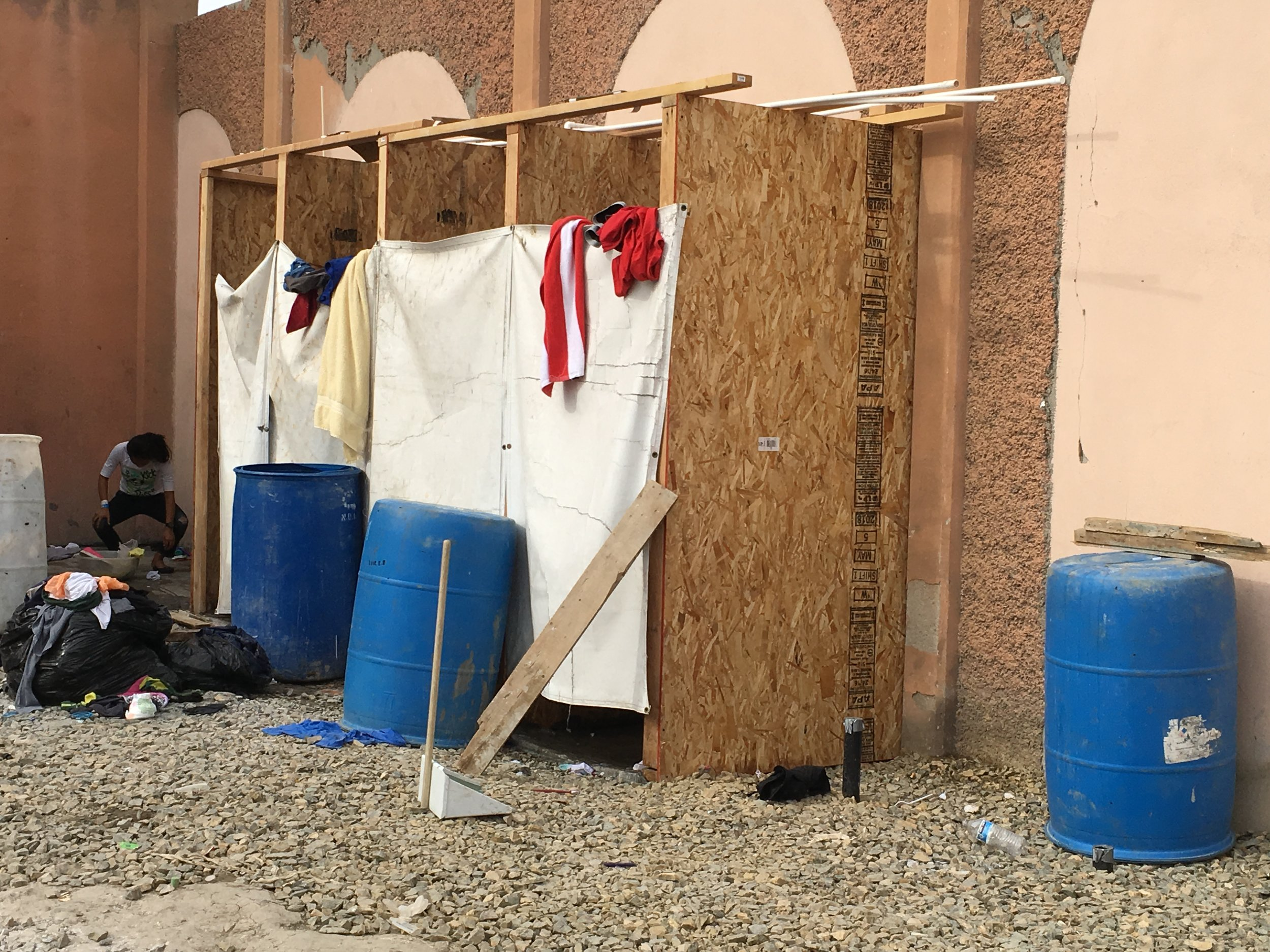 A few of the showers that we helped fund through your donations.