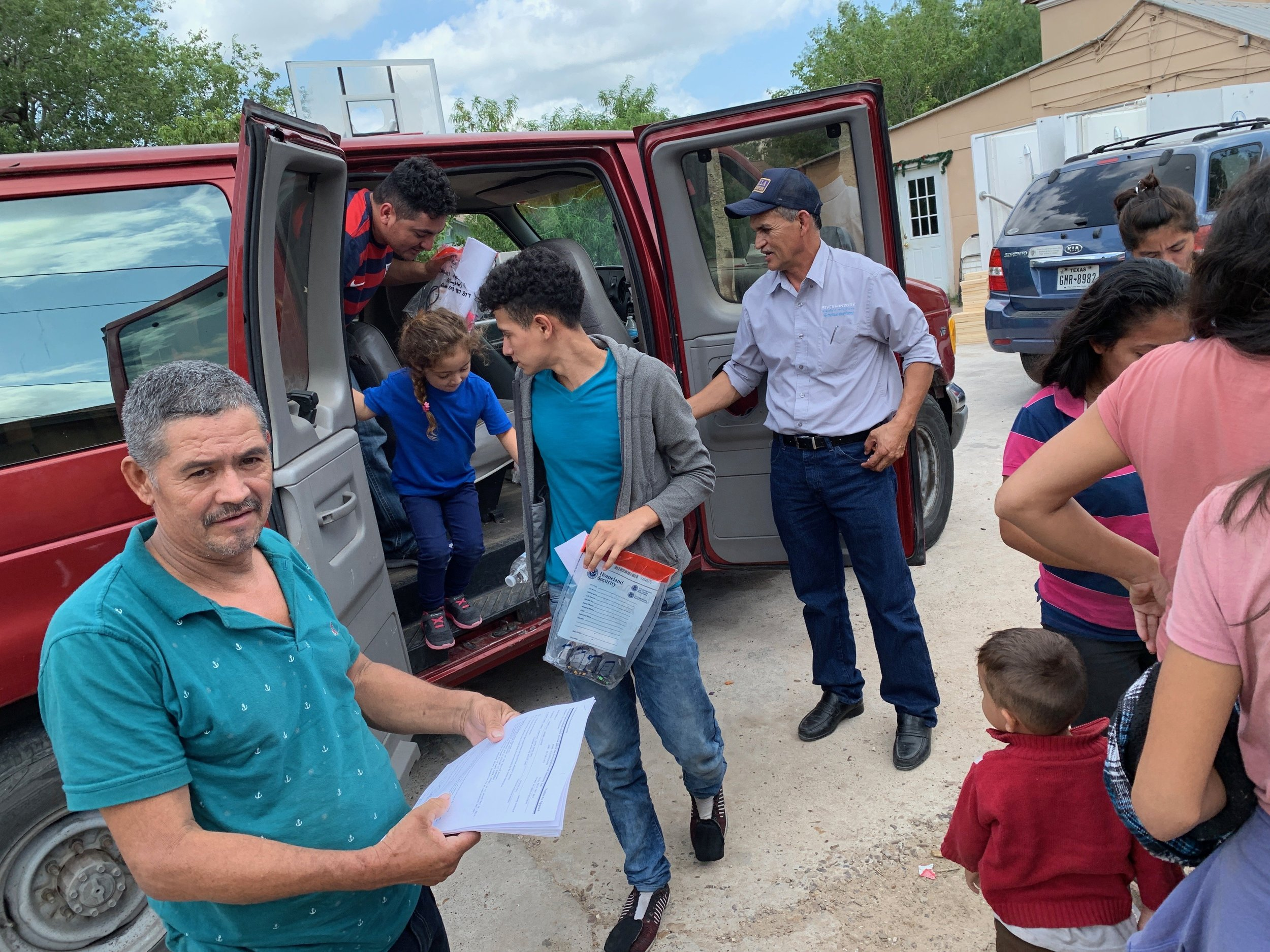 Pastor Ortiz brings refugees to his home.