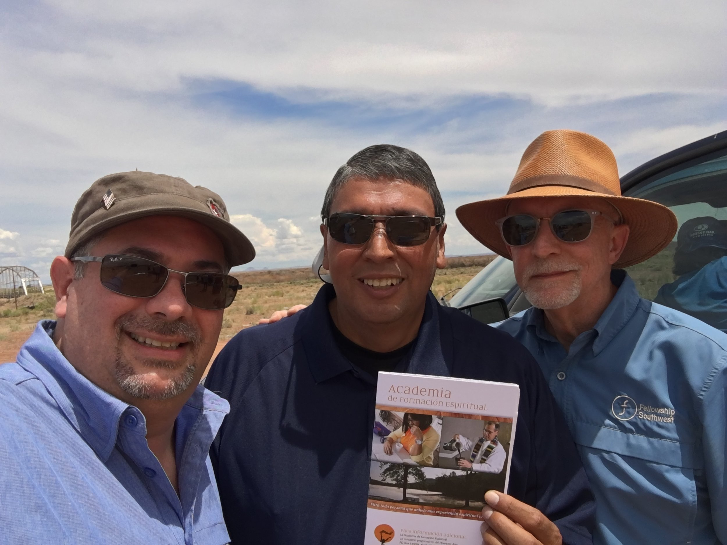 Marv Knox (right), pictured with friends on a trip to Arizona: Ruben Ortiz (left) and Jorge Zapata (center).