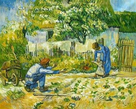 """""""First Steps (after Millet)"""" by Vincent Van Gogh"""