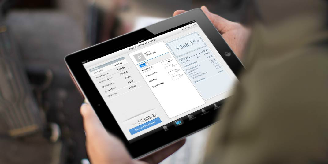 Managing QuickBooks Payroll on a tablet