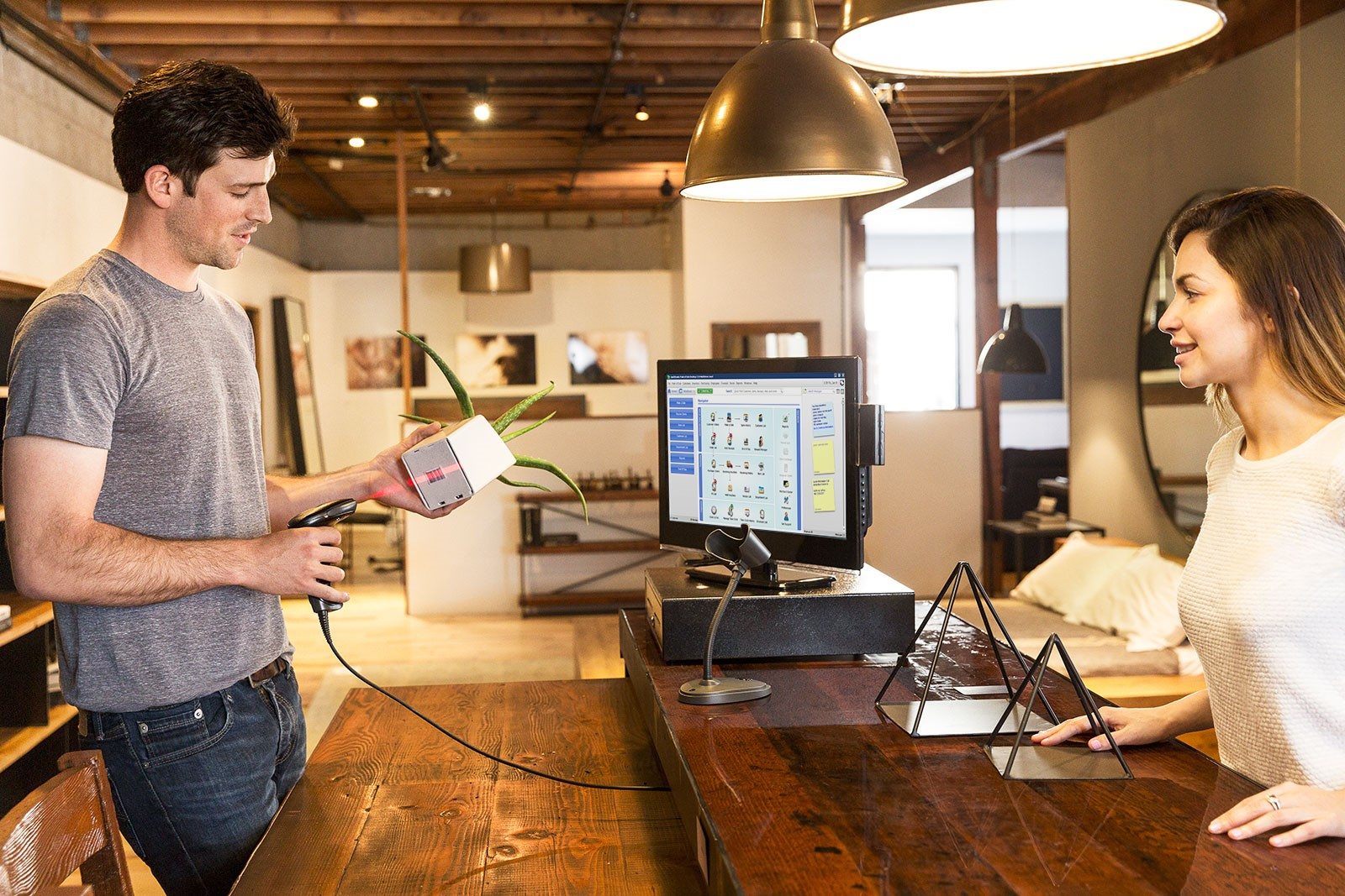 QuickBooks POS system in action
