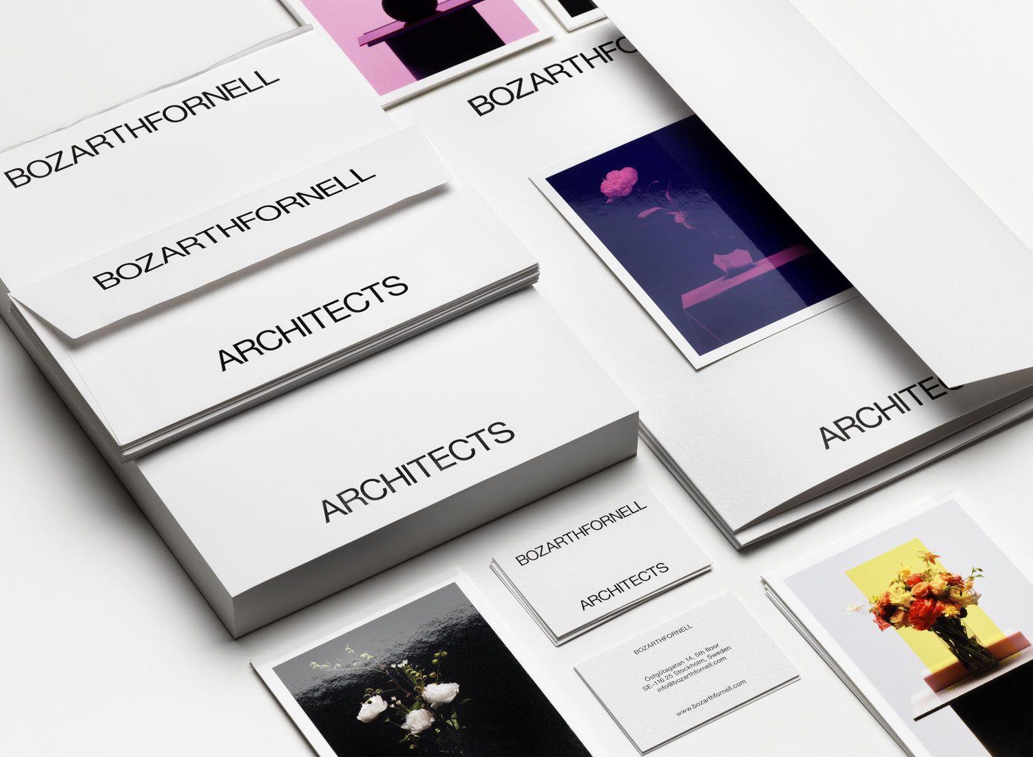 BOZARTHFORNELL ARCHITECTS Branding and stationaries