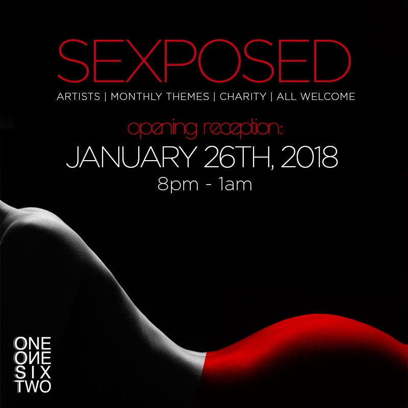 "SEXPOSED is a free, community-focused event, featuring female-identifying artists and vendors to pay tribute to women's empowerment and liberation, with works focused on sexuality, strength, body positivity, fetish freedom, and the disruption of social stigmas against abuse, harassment, provocation, and equality.  ""Emily is the creative mastermind behind Projects at Large. She is an unstoppable powerhouse who champions ingenuity, emotion, collaborations, and other artists. We are incredibly proud of her, as Emily has just been announced as the featured artist for the 'Rhythm, Wine, and Brews Experience'. We can't wait to see what is next in this artist's journey!"" - Colette Von  The 2018 SEXPOSED exhibition will consist of more than 25 female-identifying artists from across Los Angeles.  Throughout the duration of the exhibition, SEXPOSED will be offering a full program of events to encourage guests to engage with the art and space in engaging and transformative ways.  ONE ONE SIX TWO believes in giving back to its local community, and therefore dedicates a large portion of it's group exhibition proceeds to benefit selected nonprofit or community-focused organizations. SEXPOSED 2018 will be benefiting the Downtown Women's Center, which focuses support for homeless and transient women in Downtown, Los Angeles.   http://socialboor.com/tag/SEXPOSEDLA    Opening reception Friday January 26th, 2018 8pm    1162 Glendale Blvd, Los Angeles, Ca 90026    https://www.facebook.com/oneonesixtwo/    #SEXPOSEDLA"