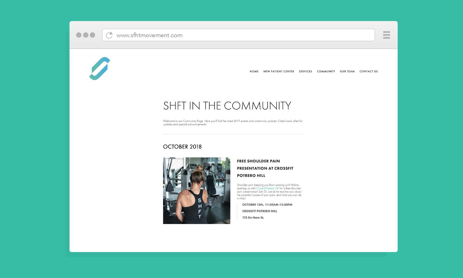 SHFT Website by Mark Penacerrada via www.NVSBLAB.com