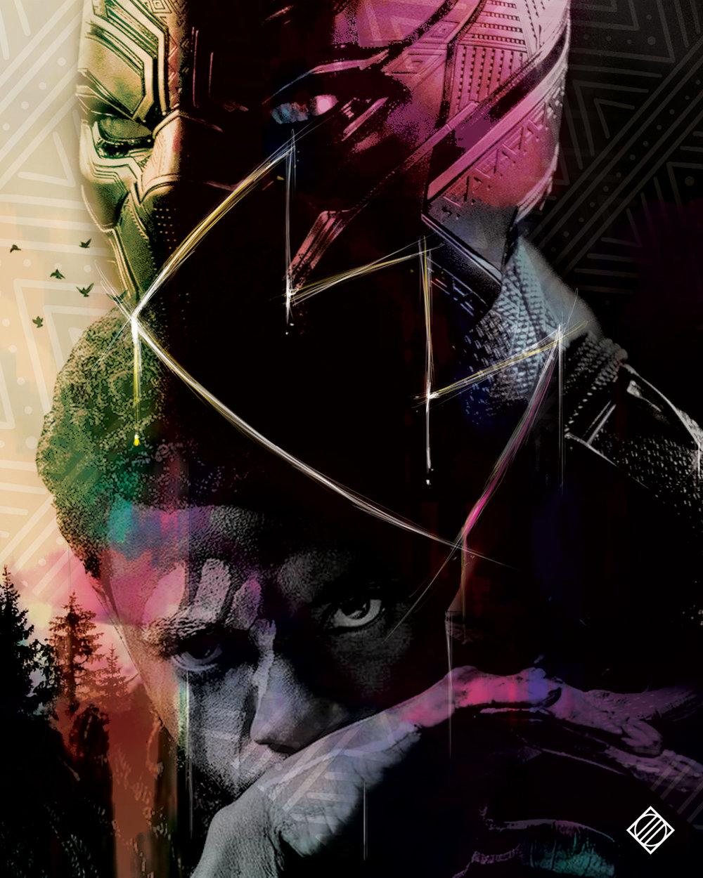 """""""The King of Wakanda"""" - Digital Artwork by Mark Penacerrada"""