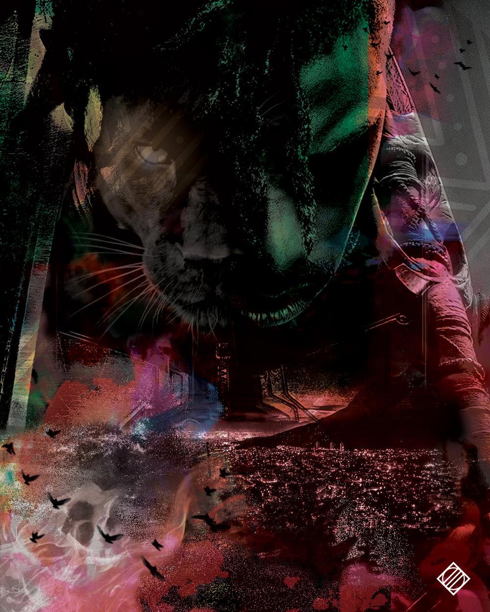 """""""Watch The Throne"""" - Digital Artwork by Mark Penacerrada"""