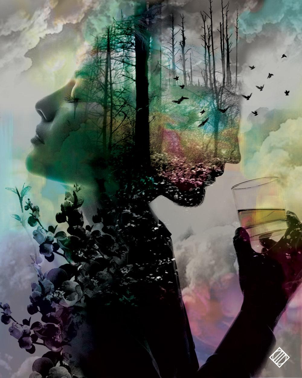 """""""Fill Me Up"""" - Digital Artwork by Mark Penacerrada"""