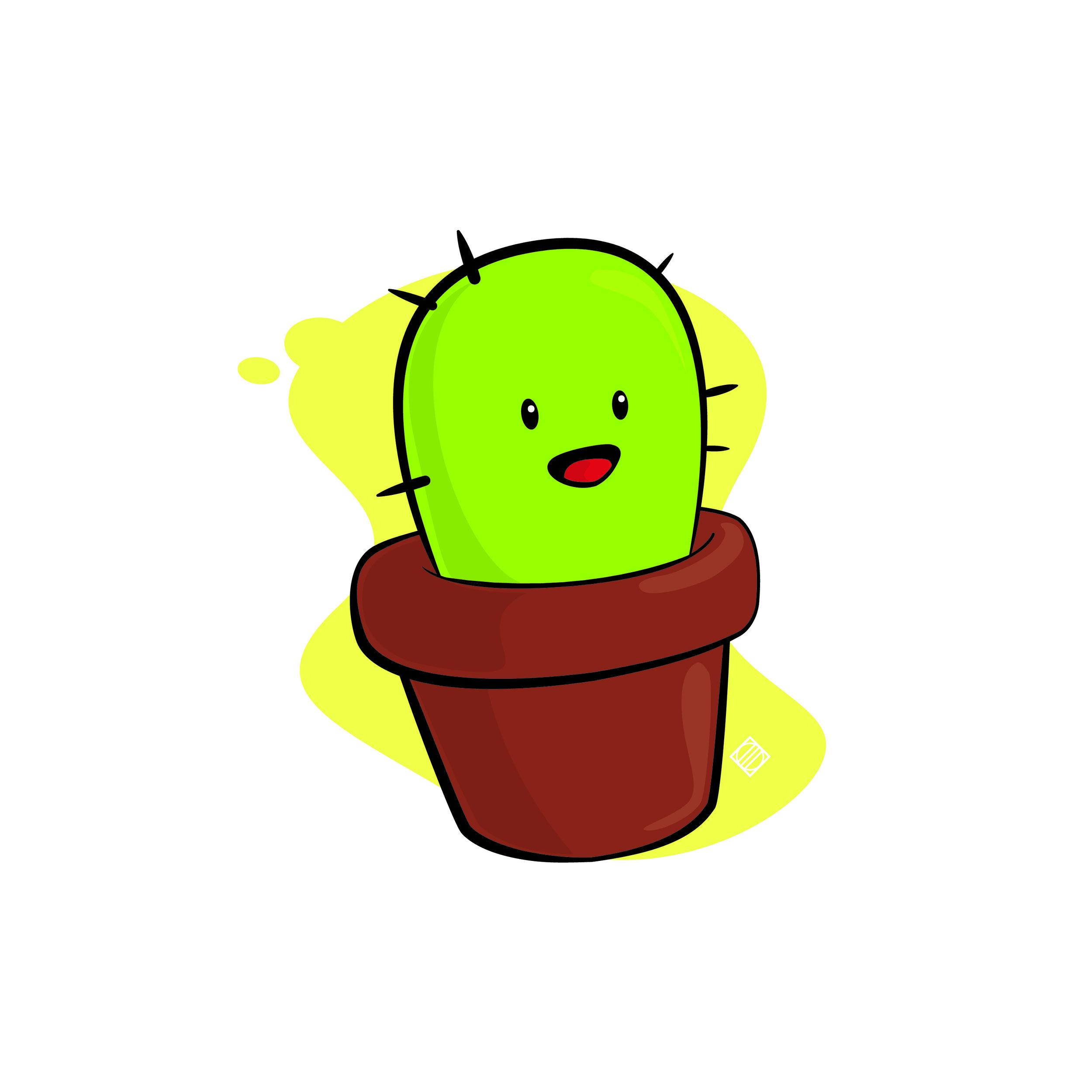 JN Baby Cactus - Digital Artwork by Mark Penacerrada