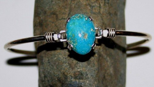 Sky Blue Turquoise from the McGunness mine out of Austin Nevada.