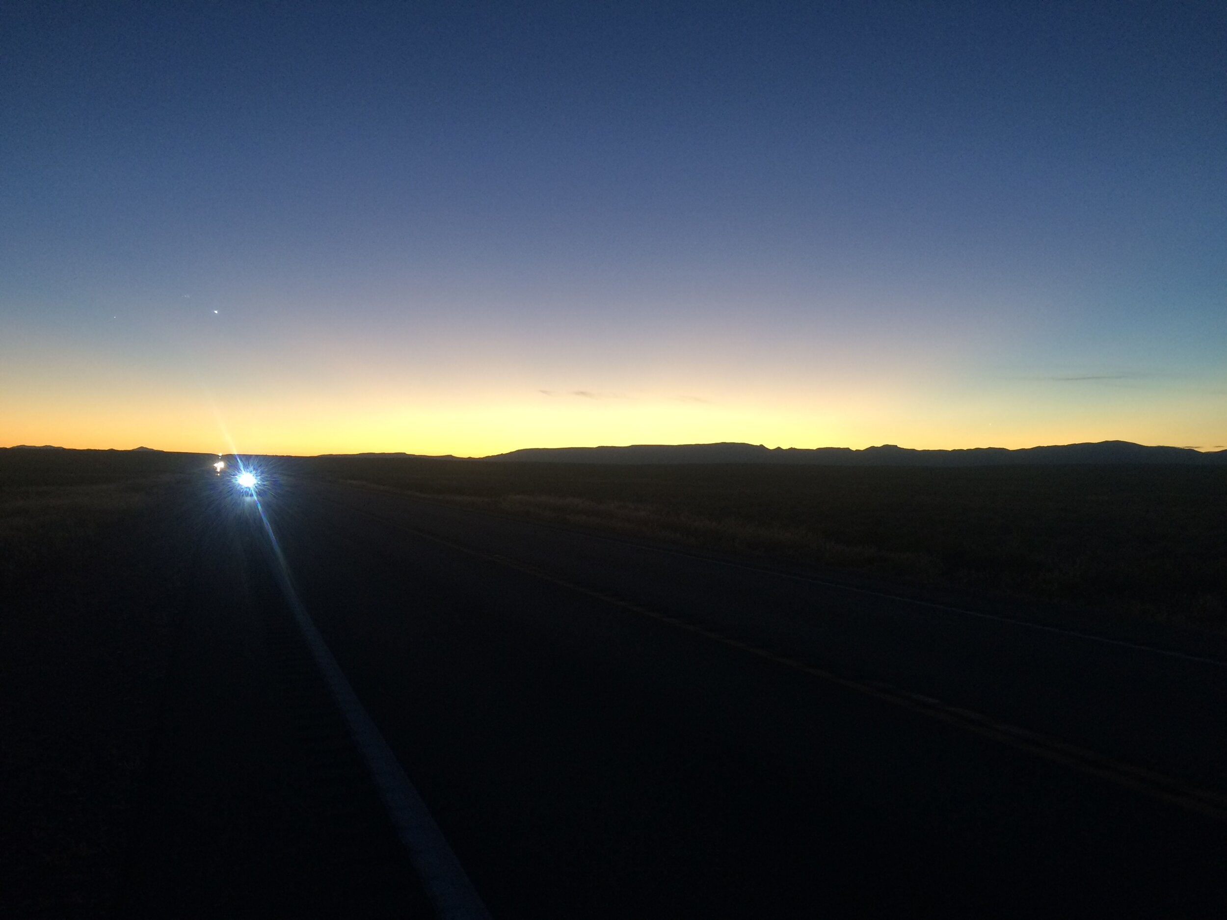 Kevin near sunrise heading into Fallon