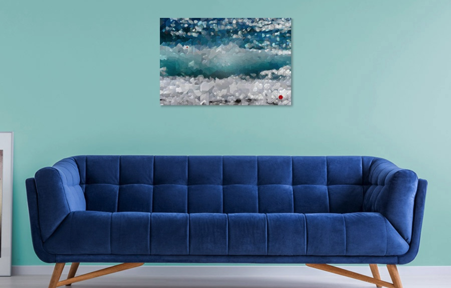 You can envision the ocean at a distance with this piece.