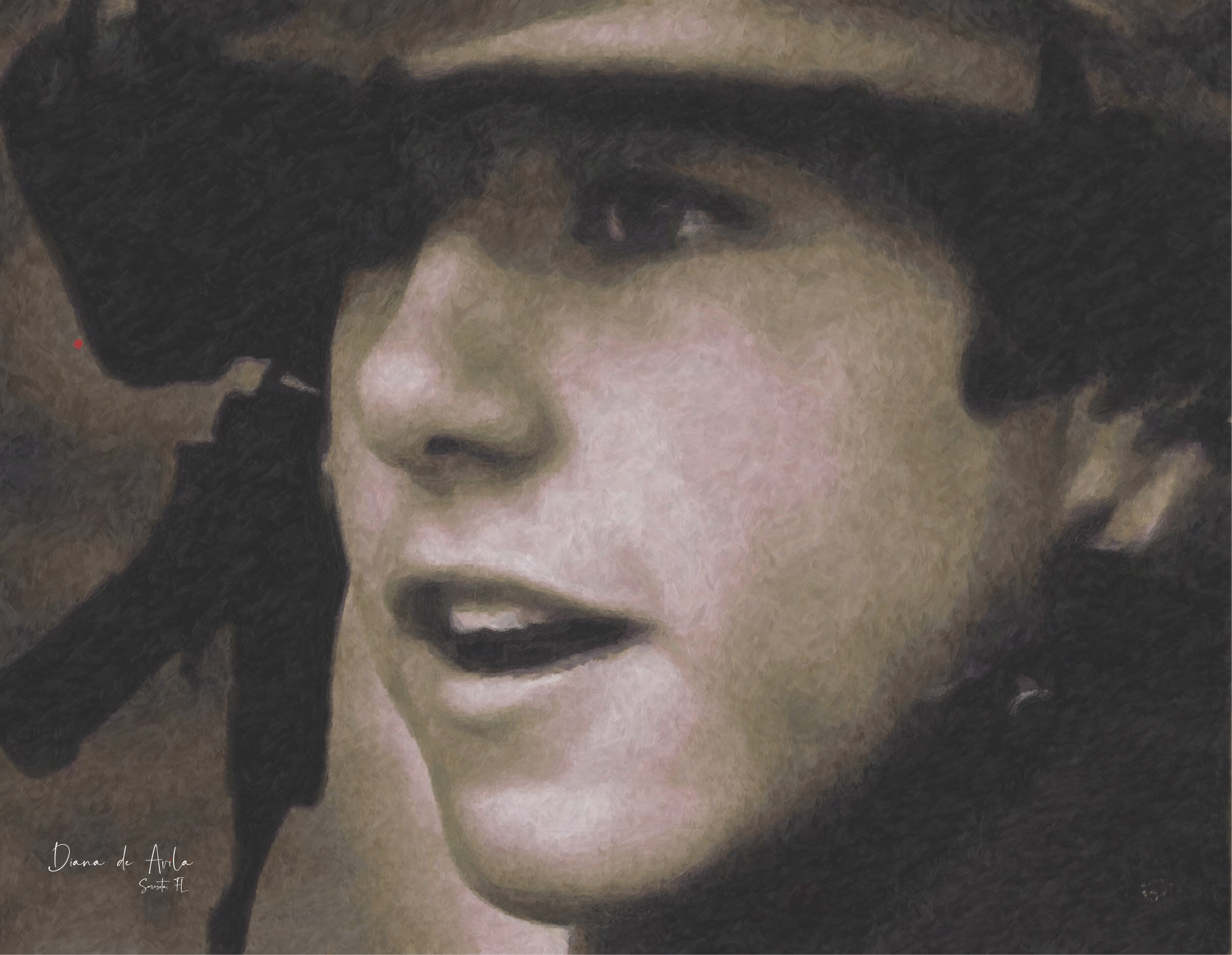 """My Invisible War"" - self-portrait at 18. US Army Military Police - 95 Bravo -Combat MP."