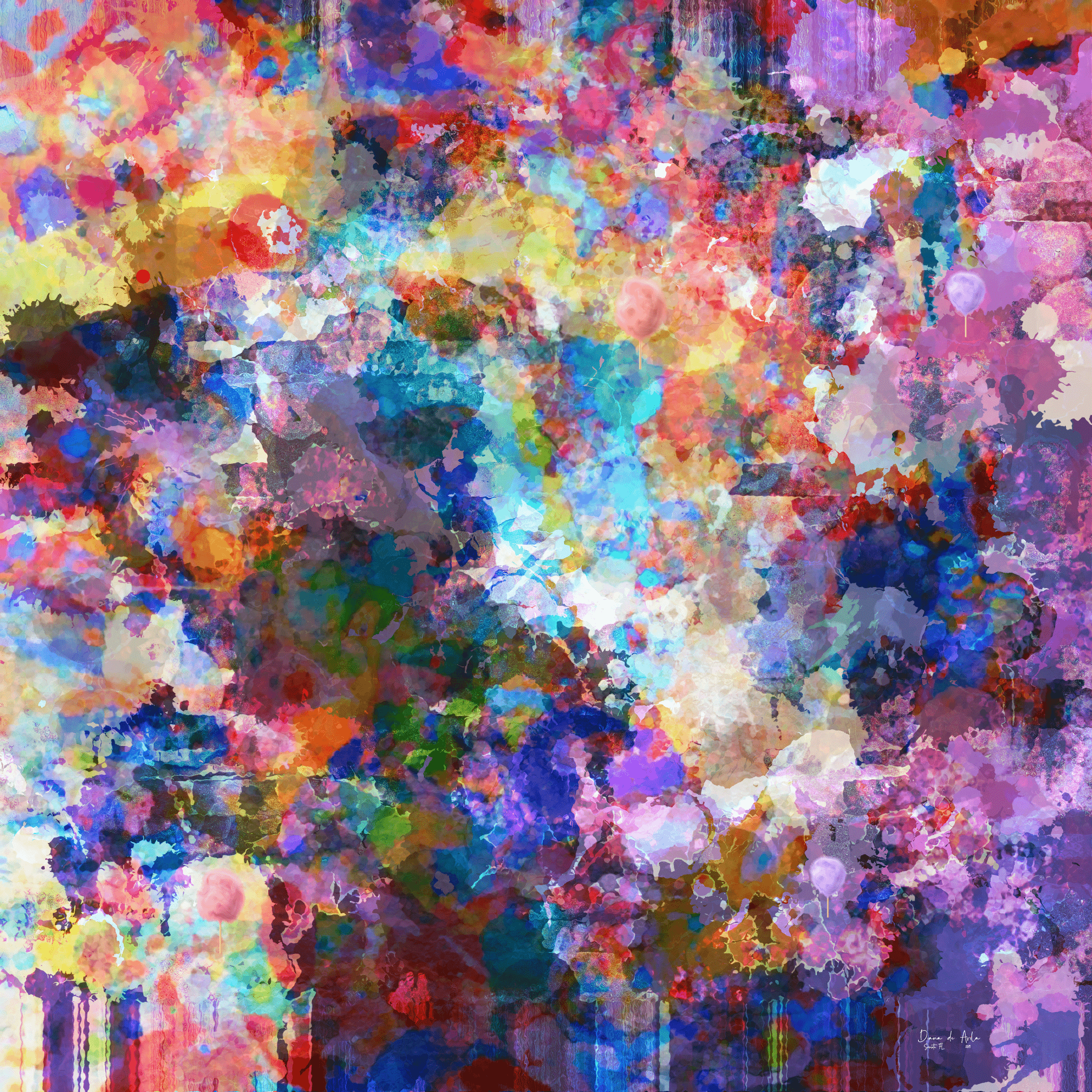 """""""Cotton Candy Summers"""" A happy piece evoking warm thoughts of childhood memories."""