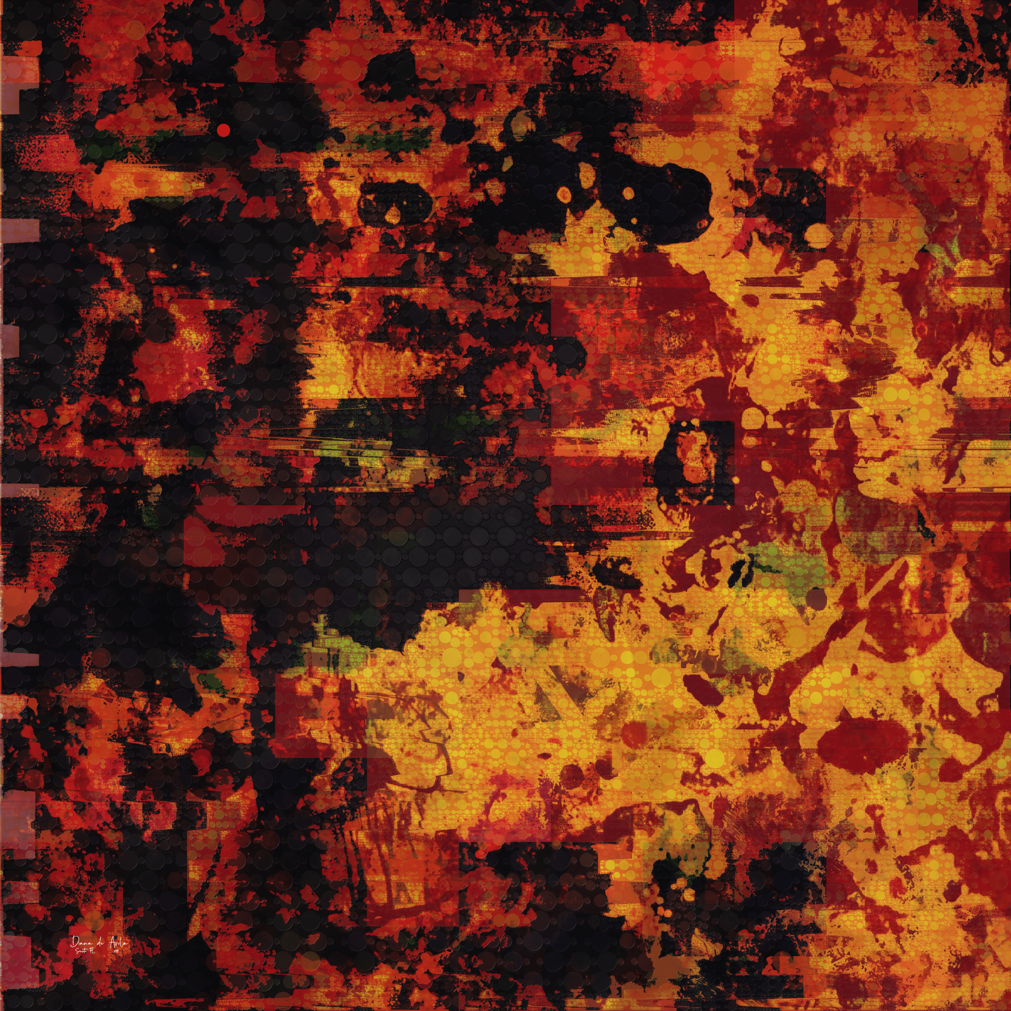 """""""Scorched"""" - an entirely different mood!  Evoking it through color and composition."""