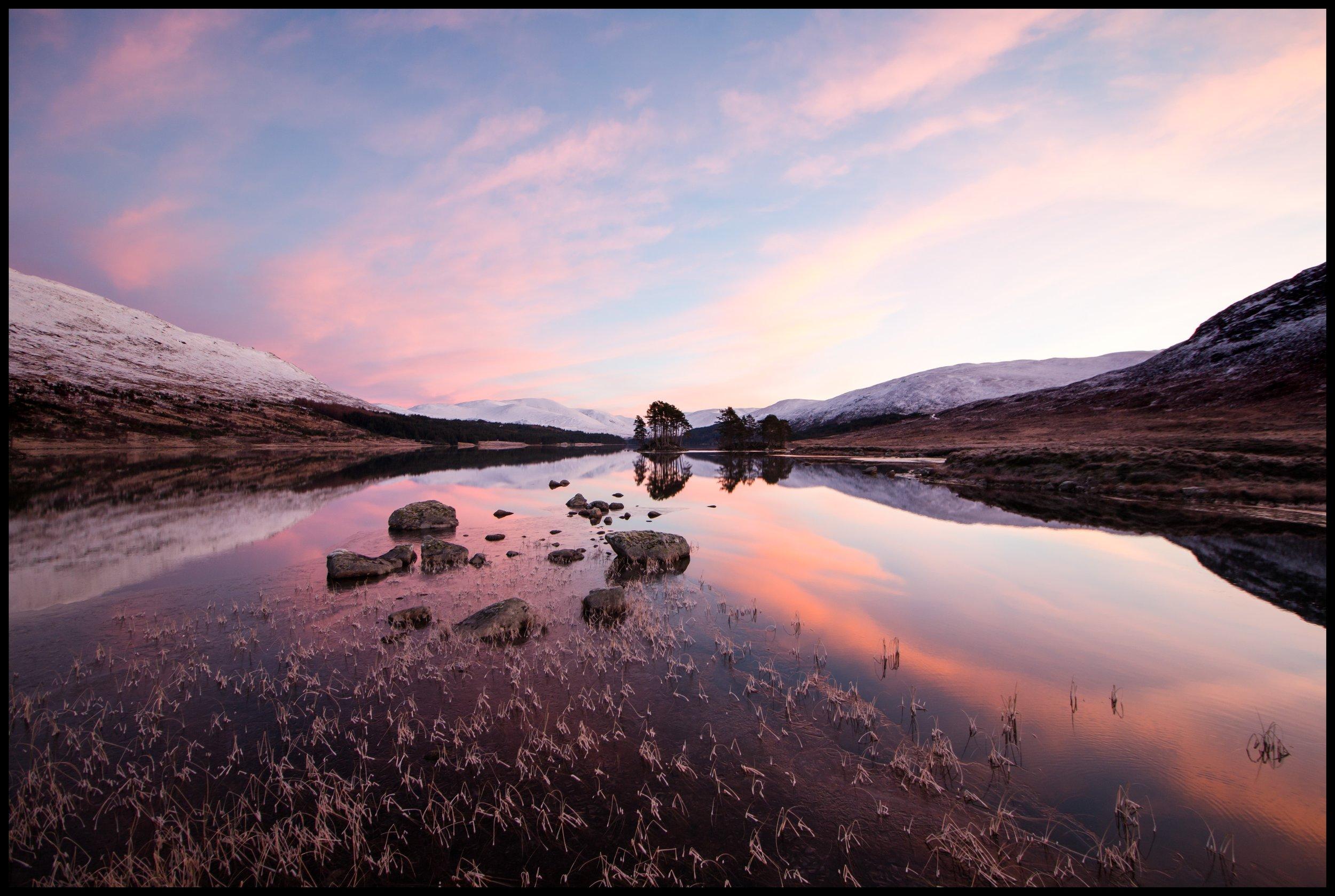 Loch Ossian in winter