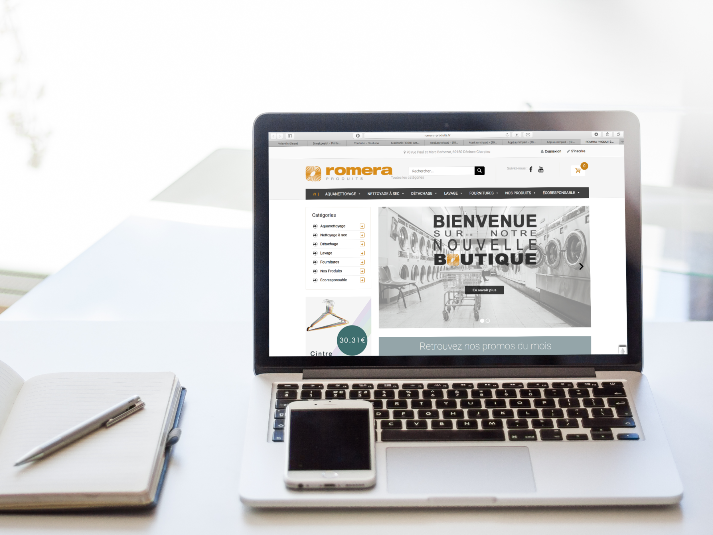 Romera Produits wordpress site étudiant alternance web design paris