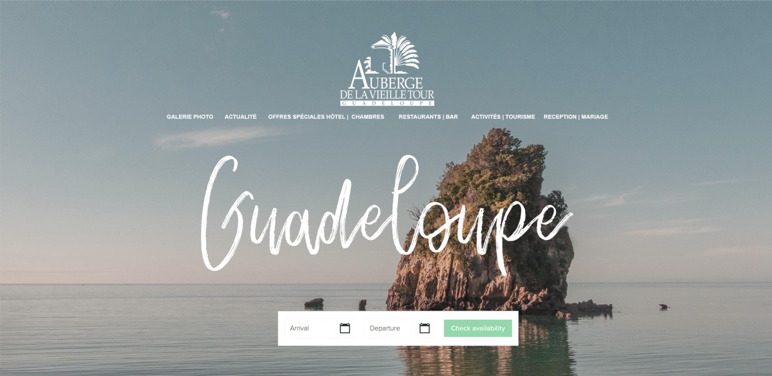 Auberge de la vieille tour refonte étudiant web design paris