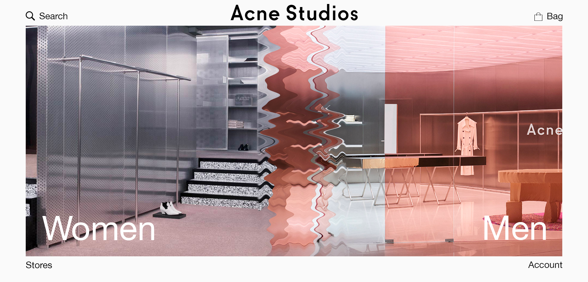 Acne Studio web design étudiant paris