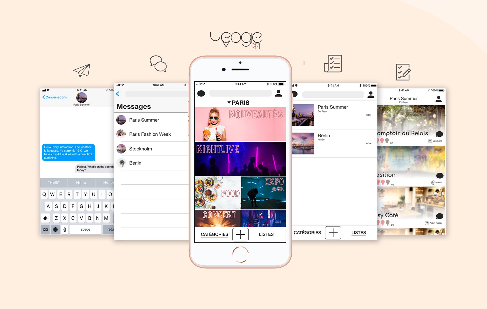 Bannière Yeogie App web design étudiant paris