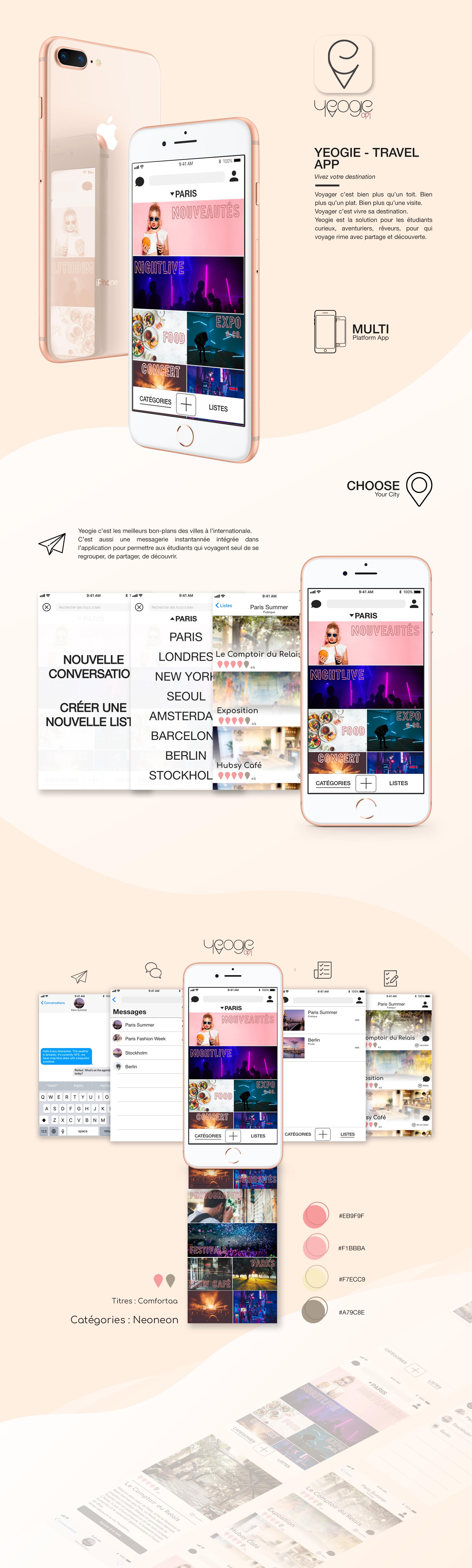 Yeogie app mockup design