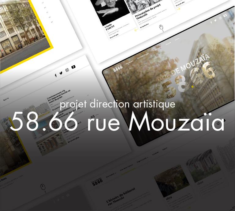 Projet Mouzaïa UX UI design (direction artistique)