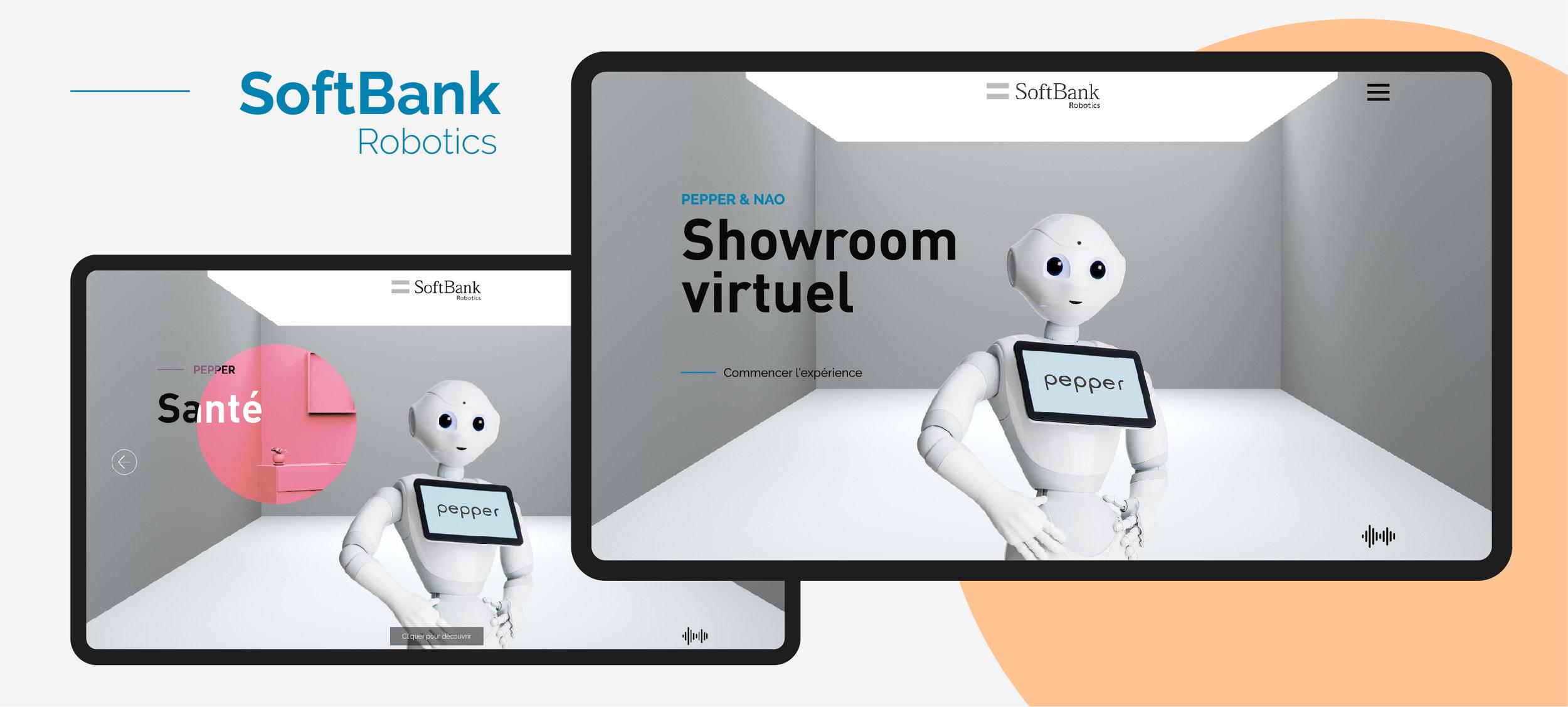 Projet SoftBank Robotics (robot pepper et nao) - Design interactif et web design