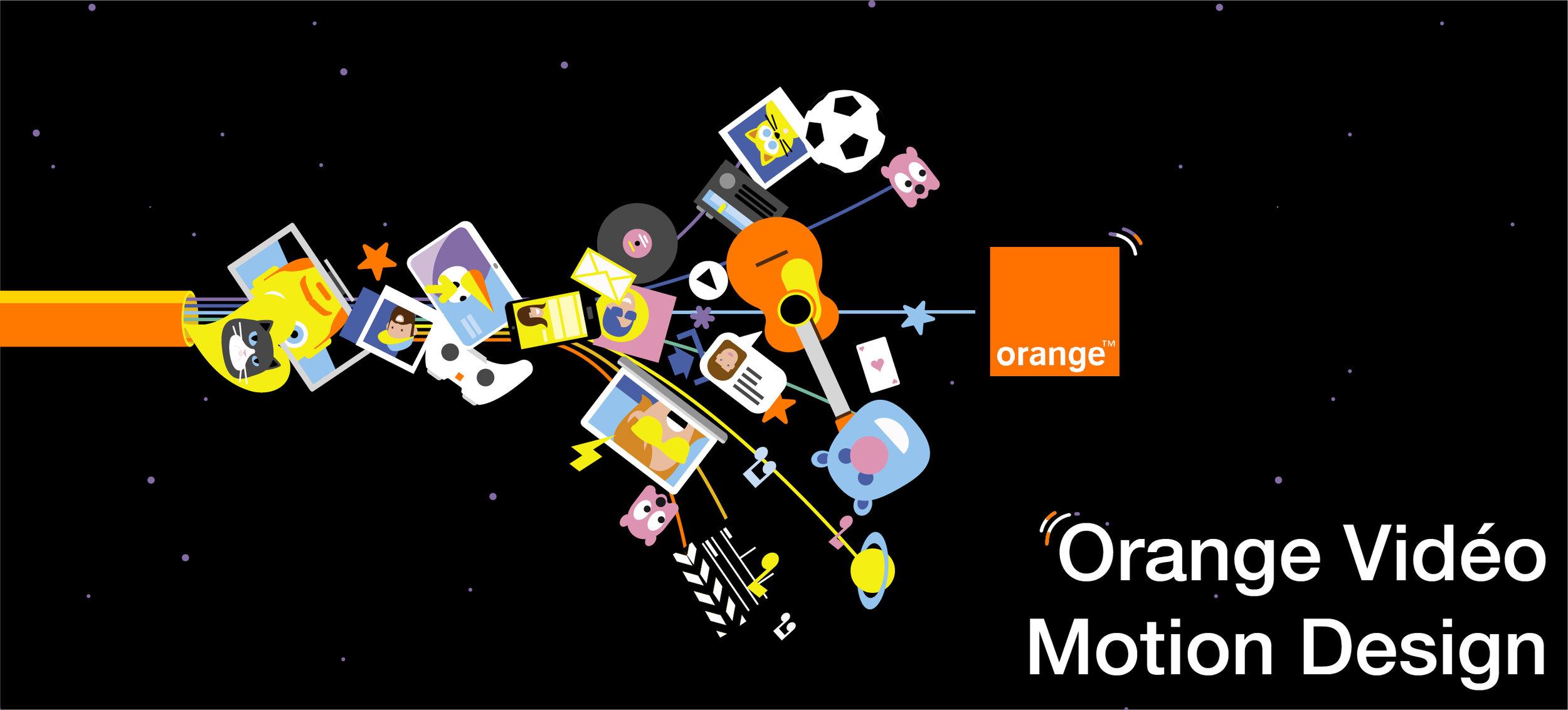 Orange vidéo motion design