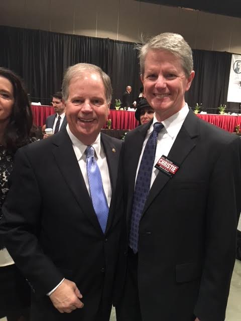 Alabama's own U.S. Senator Doug Jones and Attorney General Candidate Chris Christie