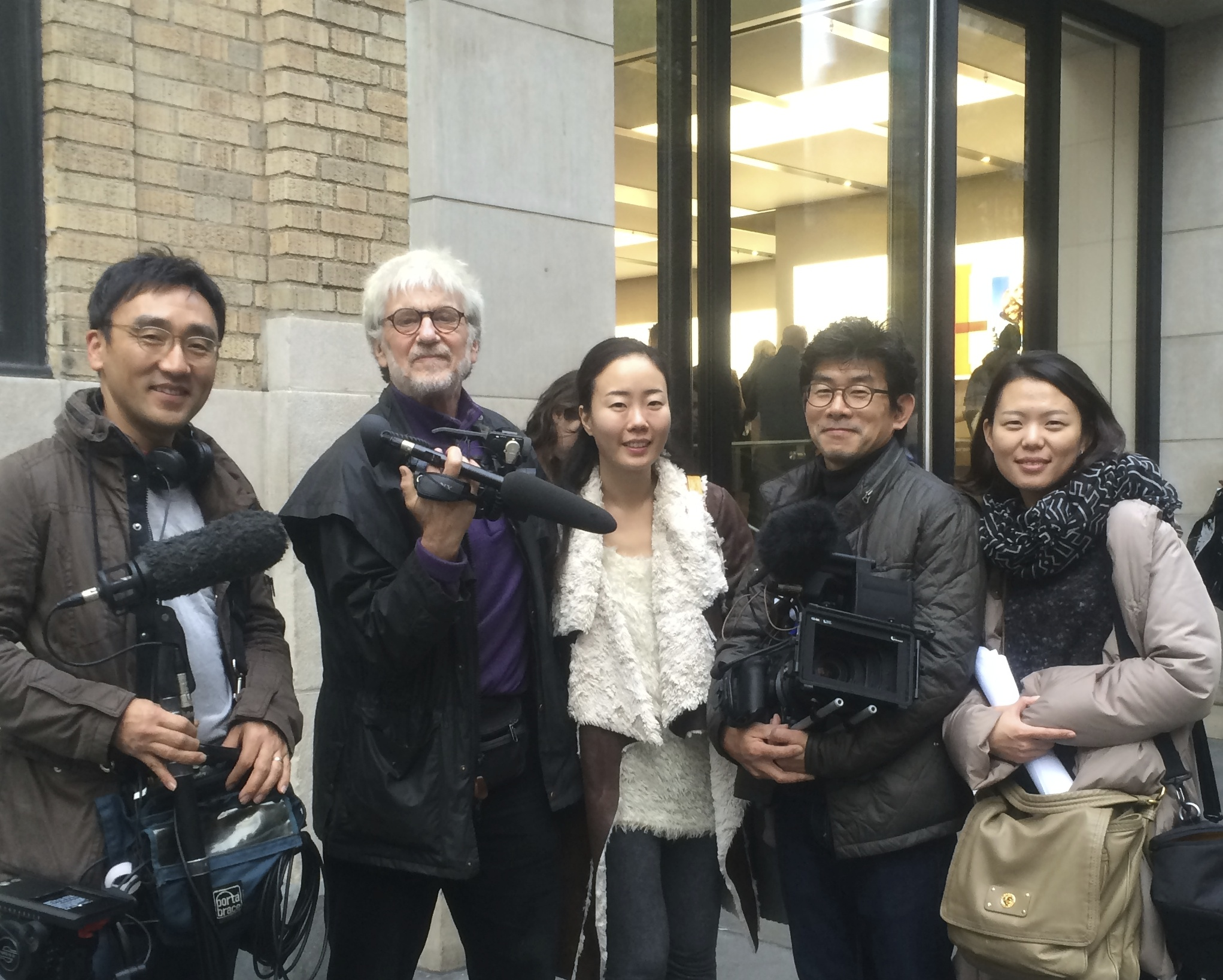 KBS Crew followed Skip Blumberg in SoHo for Documentary about Nam June Paik