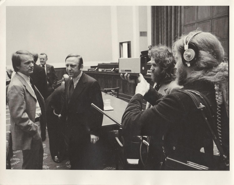 TVTVs Skip Blumberg and Hudson Marquez film Congressional AFI hearing (1974)
