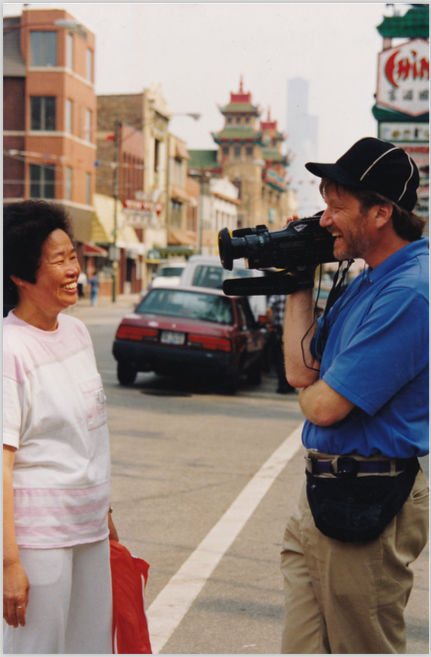 "Skip on production for ""Chicago Slices"" in Chinatown, Chicago"