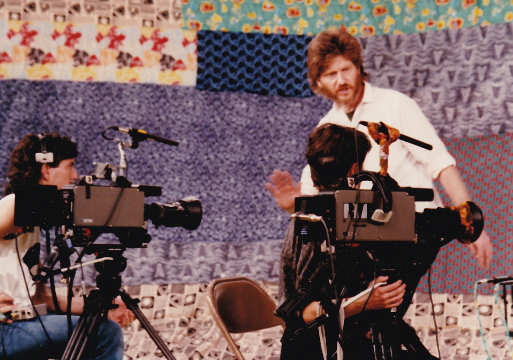 "Skip Blumberg on set of ""Women of the Calabash"" (1987)"