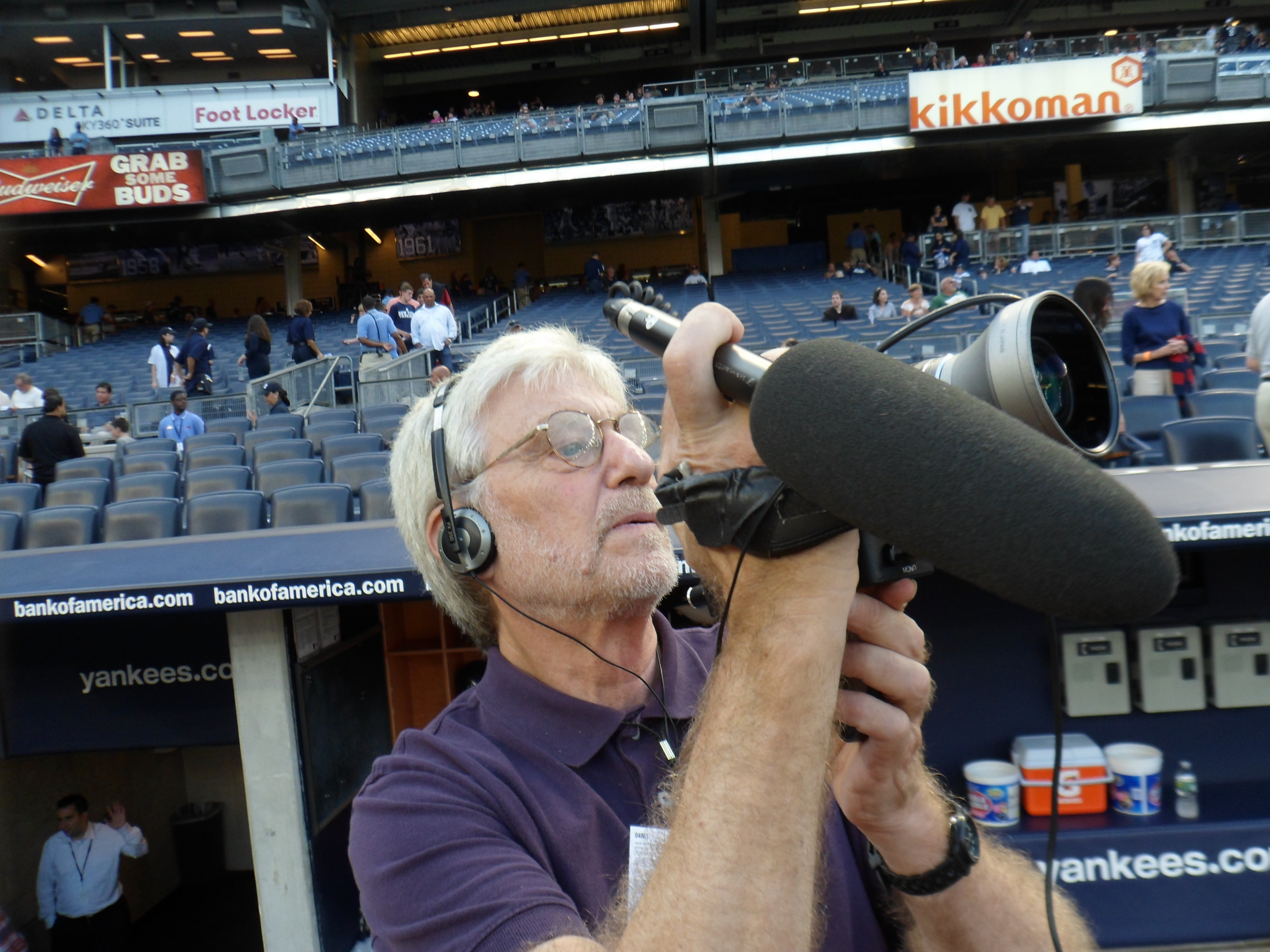 Camera journalist Skip Blumberg at Yankee Stadium