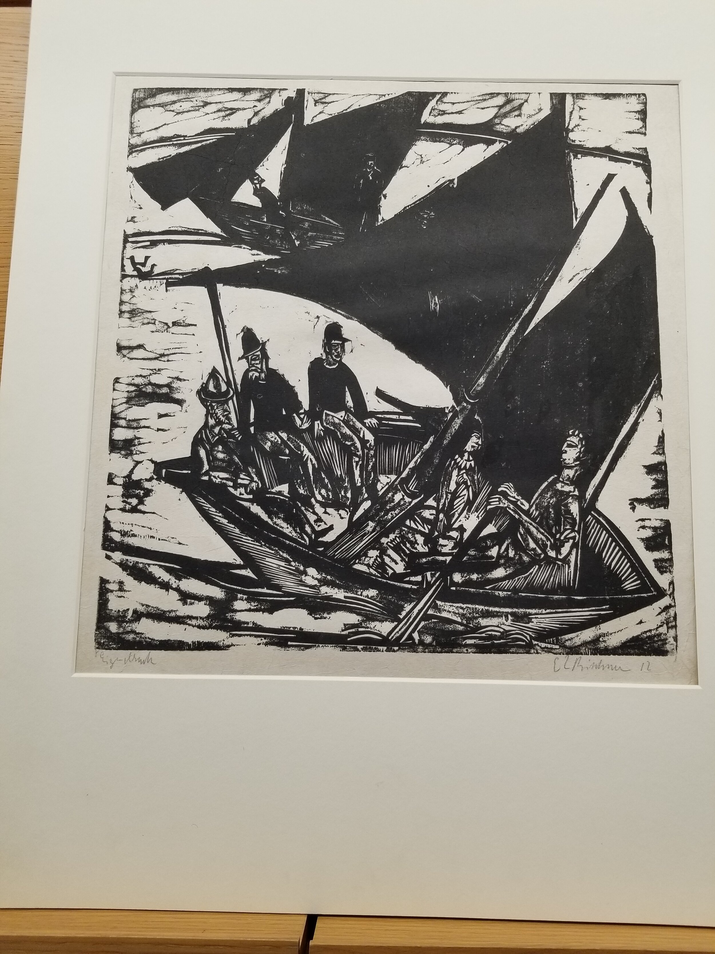 This print changed my life. This is E.L. Kirchner's Sailboats at Fehmarn and it opened me up to the German Expressionists.