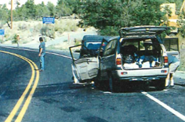 1993 Mazda MPV van, Northbound SR-89 & 290 N Center, Orderville, UT (August 14, 2002)