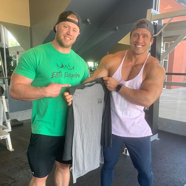 Look out St George! @ifbb_pro_aaronjeffery will be rocking the elite 3/4 tee and SnapBack around gym! #eliteempire #jointheempire #teamheugly